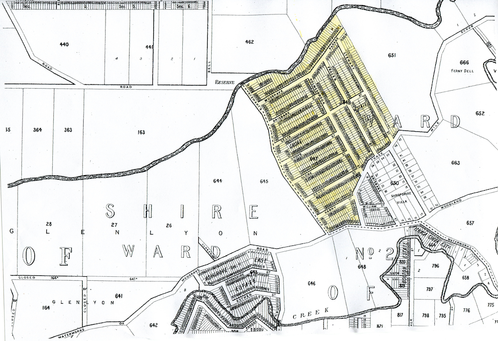 ArtS2 Grove Estate map c. 1900