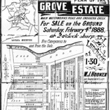 Grove Estate Map, 1888, thumbnail